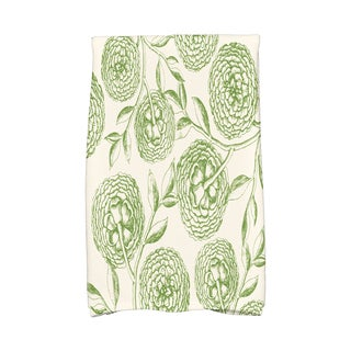 16 x 25-inch, Antique Flowers, Floral Print Kitchen Towel