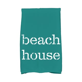 16 x 25-inch, Beach House, Word Print Kitchen Towel
