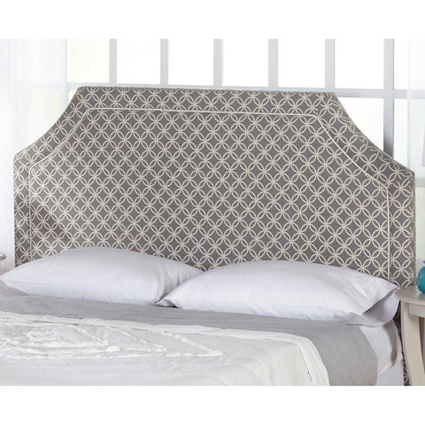 Simple Living Grey and White Stella Upholstered Headboard