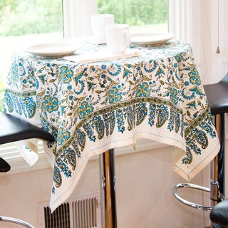 Turqoise Flora Tablecloth (India)