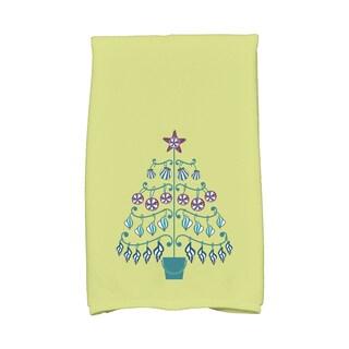 16 x 25-inch, Beach Tree, Holiday Geometric Print Kitchen Towel