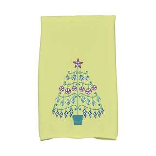 16 x 25-inch, Beach Tree, Holiday Geometric Print Kitchen Towel