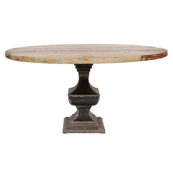 Reclaimed Round Dining Table 60 Inch