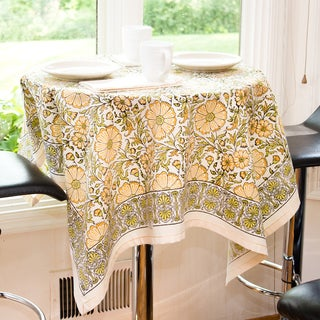 Handmade Yellow Texana Tablecloth (India)