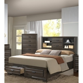 LYKE Home Eden Slate Storage Bed
