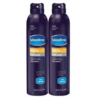 Vaseline Men's Fast Cooling 6.5-ounce Spray Lotion (Pack of 2)|https://ak1.ostkcdn.com/images/products/12314071/P19147888.jpg?impolicy=medium