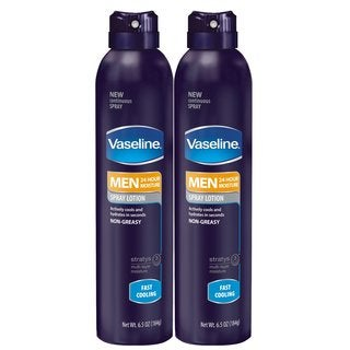 Vaseline Men's Fast Cooling 6.5-ounce Spray Lotion (Pack of 2)