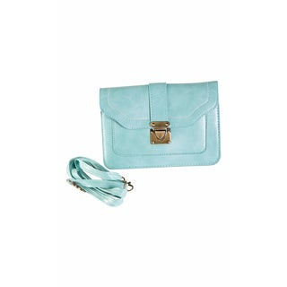 Hadai Women's Mint Mini Clutch With Shoulder Strap