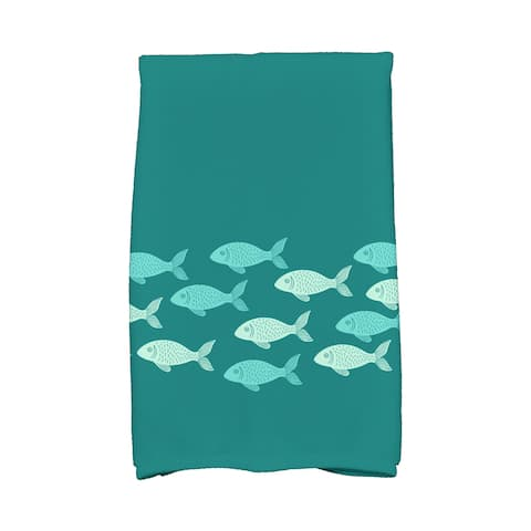 16 x 25-inch, Fish Line, Animal Print Kitchen Towel