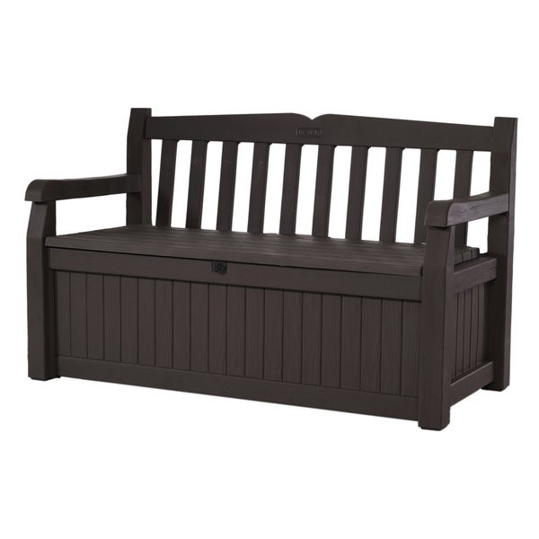 Keter Eden All Weather 70 Gallon Brown Resin Storage Bench
