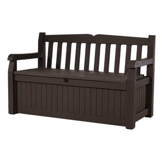 Link to Keter Eden All-Weather 70-Gallon Brown Resin Storage Bench Deck Box Similar Items in Patio Furniture