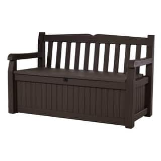Keter Eden All-Weather 70-gallon Brown Resin Storage Bench Deck Box|https://ak1.ostkcdn.com/images/products/12314109/P19147912.jpg?impolicy=medium