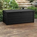 Keter Brightwood Plastic 120 Gal. Anthracite Deck Box Storage Container