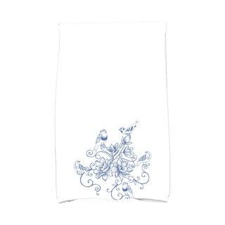 16 x 25-inch, Five Little Birds, Floral Print Kitchen Towel