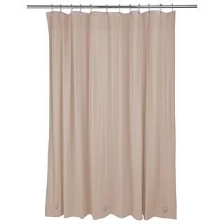 Bath Bliss Heavy Grommet Taupe Shower Liner