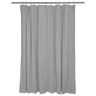 Bath Bliss Heavy Grommet Silver Shower Liner