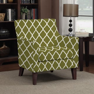Portfolio Waldron Green Trellis Arm Chair