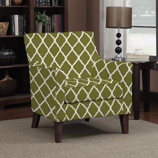 Handy Living Waldron Green Trellis Arm Chair