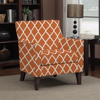 Portfolio Waldron Orange Trellis Arm Chair