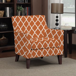 Handy Living Waldron Orange Trellis Arm Chair