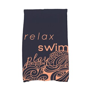 16 x 25-inch, Mellow Mantra, Word Print Kitchen Towel