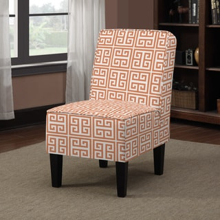 Portfolio Wylie Orange Greek Key Armless Chair