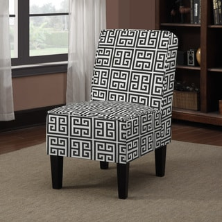 Portfolio Wylie Black Greek Key Armless Chair