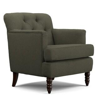 Handy Living Sayre Basil Green Linen Arm Chair