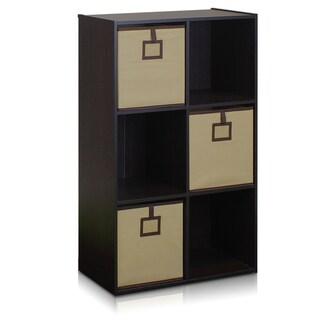 Furinno Econ Espresso 6-Cube Organizer