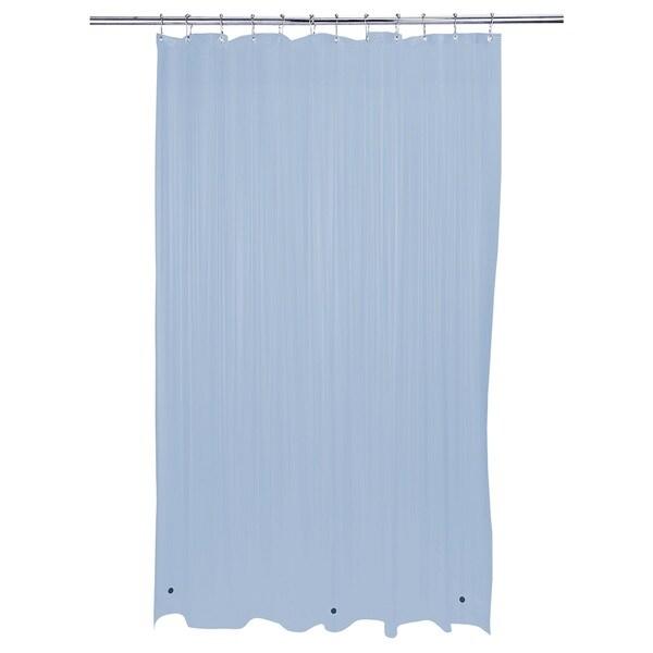 Bath Bliss Heavy Grommet Blue Shower Liner