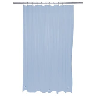 Bath Bliss Heavy Grommet Blue Shower Liner