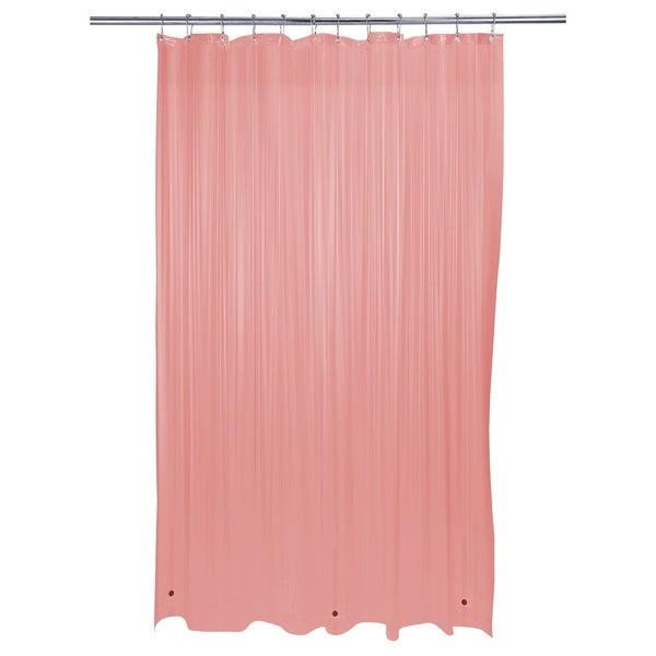 Bath Bliss Heavy Grommet Pink Shower Liner