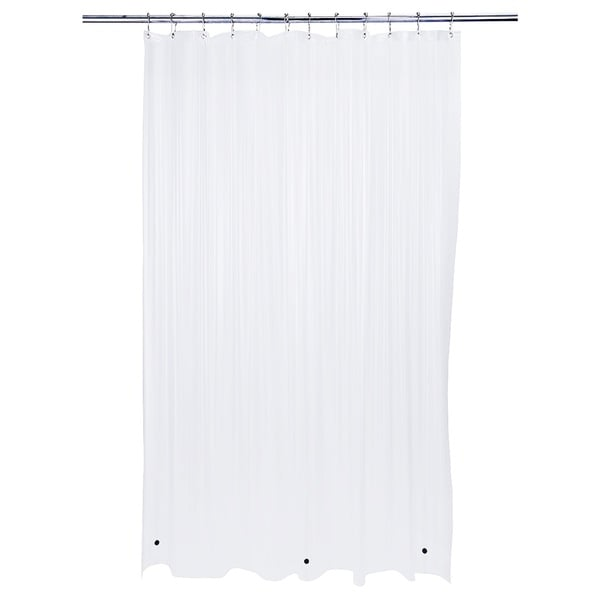 Bath Bliss Heavy Grommet White Shower Liner