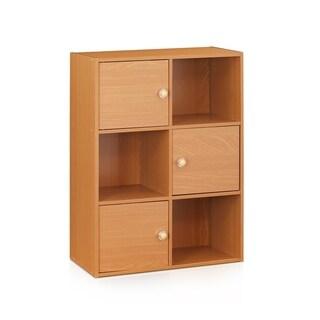 Furinno Pasir 3-Tier 3-Door Bookshelf