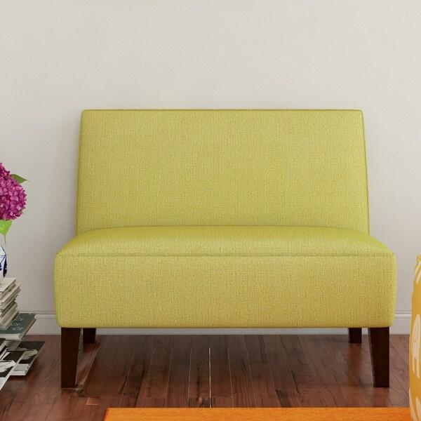 Handy Living Wylie Apple Green Linen Armless Settee