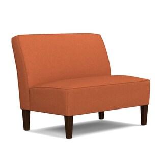 Handy Living Wylie Orange Linen Armless Settee