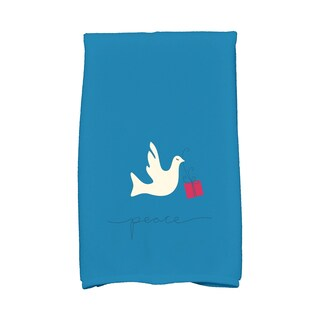 16 x 25-inch, Peace Dove, Holiday Animal Print Kitchen Towel