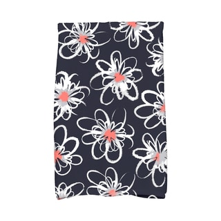 16 x 25-inch, Penelope Floral, Geometric Print Kitchen Towel