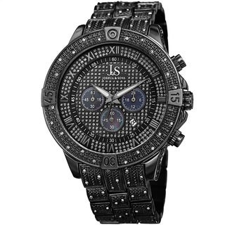 Joshua & Sons Men's Chronograph Quartz Crystal Black Bracelet Watch