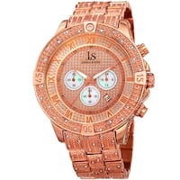Joshua & Sons Men's Chronograph Quartz Crystal Rose-Tone Bracelet Watch