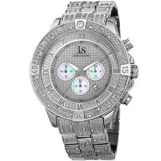 Joshua & Sons Men's Chronograph Quartz Crystal Silver-Tone Bracelet Watch