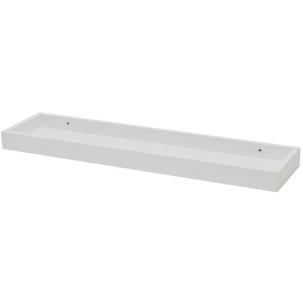 White Wood 6 1/4-inch x 24-inch Shelf
