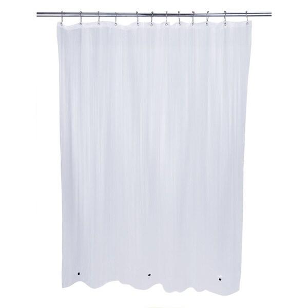 Bath Bliss Eva Clear Mildew Resist Shower Liner