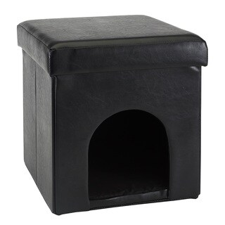 Simplify Black Single Foldable Pet Ottoman