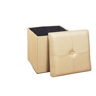 Simplify Metallic Gold Single Foldable Ottoman
