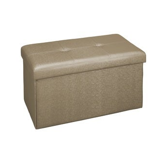 Simplify Double Metallic Bronze Foldable Ottoman