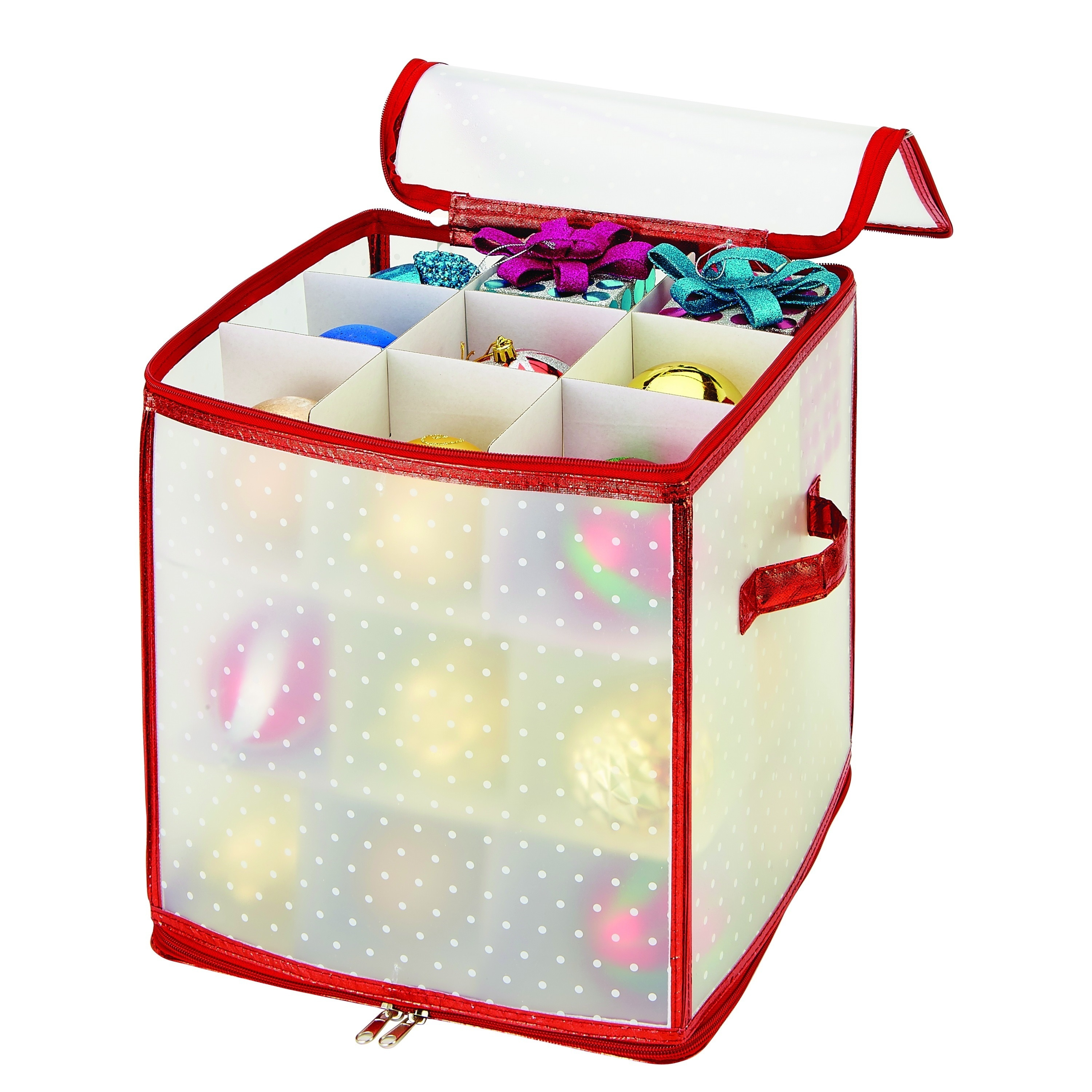 Simplify Red 27-count Ornament Organizer (27 Count, Red) ...