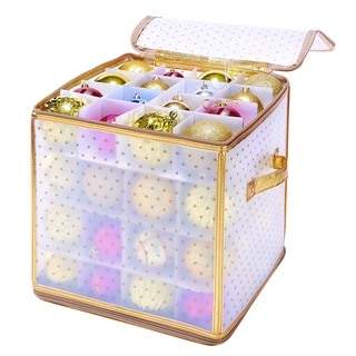 Simplify 64-Count Gold Ornament Organizer
