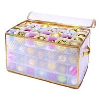 Simplify Gold Plastic 112-count Ornament Organizer