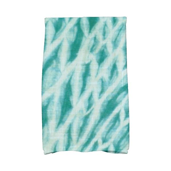 16 x 25-inch, Shibori Stripe, Geometric Print Kitchen Towel